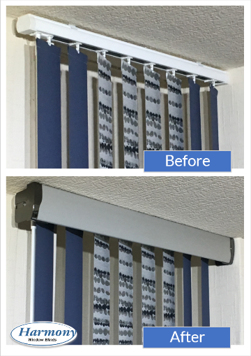 vertical blinds with a pelmet Bolton