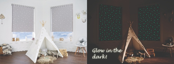 glow in the dark roller blinds