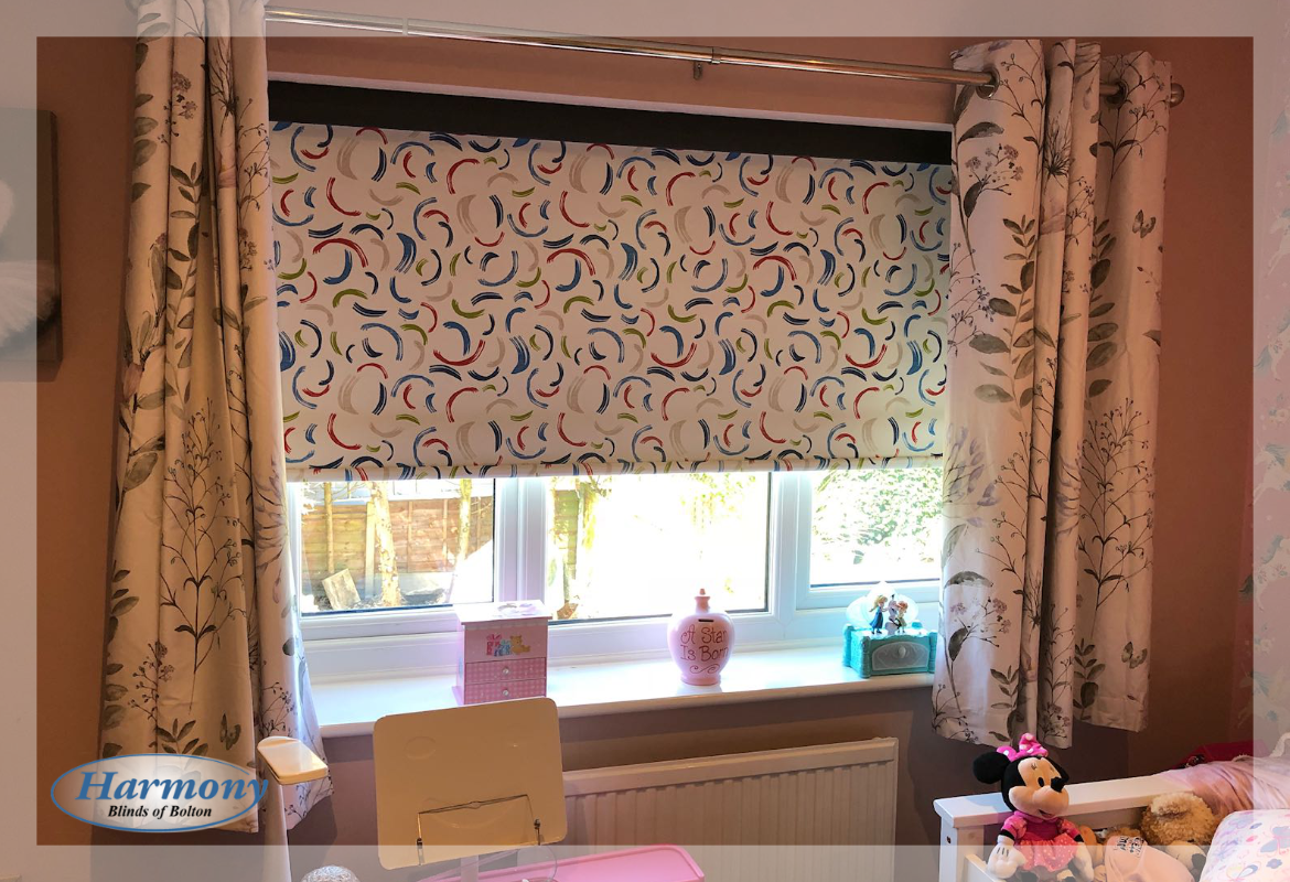 Children's Bedroom Blackout Senses Roller Blind