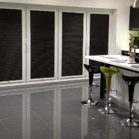 Perfect Fit Blinds are also a great choice for covering Bi-Fold Doors