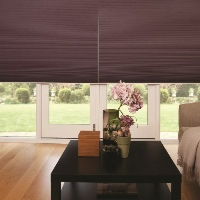 Span large areas with Pleated Blinds to create a fabric shutter effect
