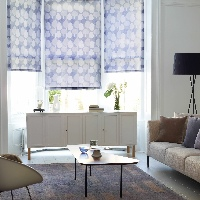 Roller Blinds create a stunning finish in Bay Windows