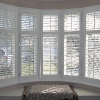Shutters in Bay Windows create an immaculate style