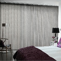 Vertical Blinds in your bedroom are great for privacy as well as light filtration