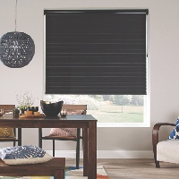 Rolls up completely like a traditional roller blind