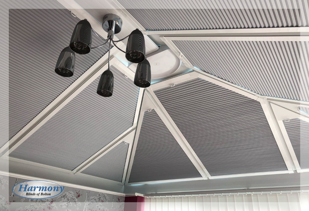 Grey Hive Perfect Fit Roof Blinds for the Conservatory
