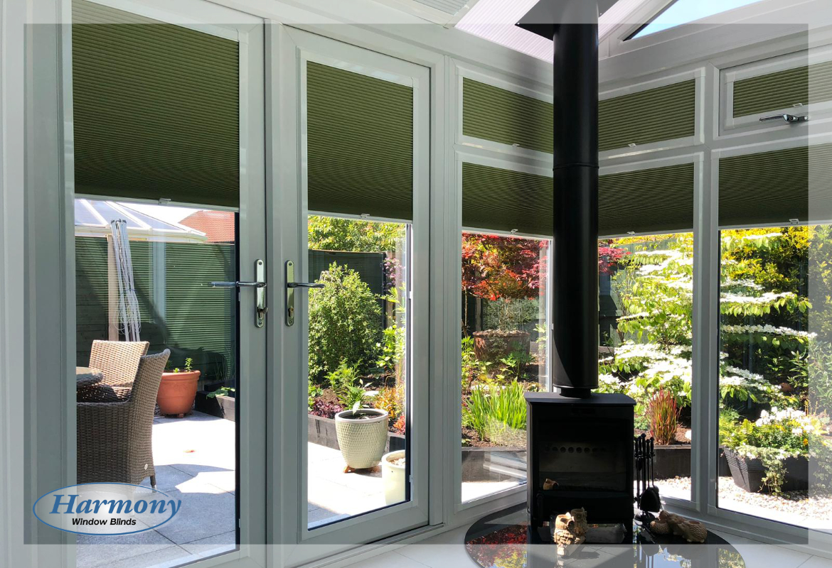 Hive Blackout Blinds in a Conservatory