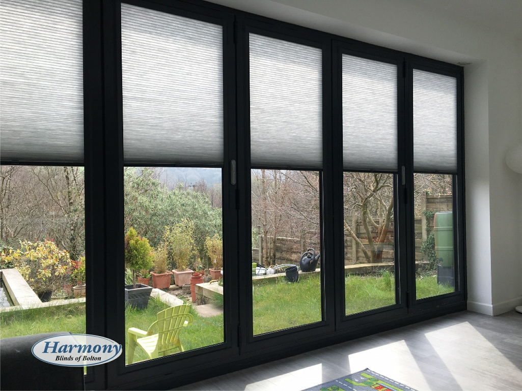 Anthracite Grey Perfect Fit Blinds In Bi fold Doors Harmony Of Bolton amp Chorley