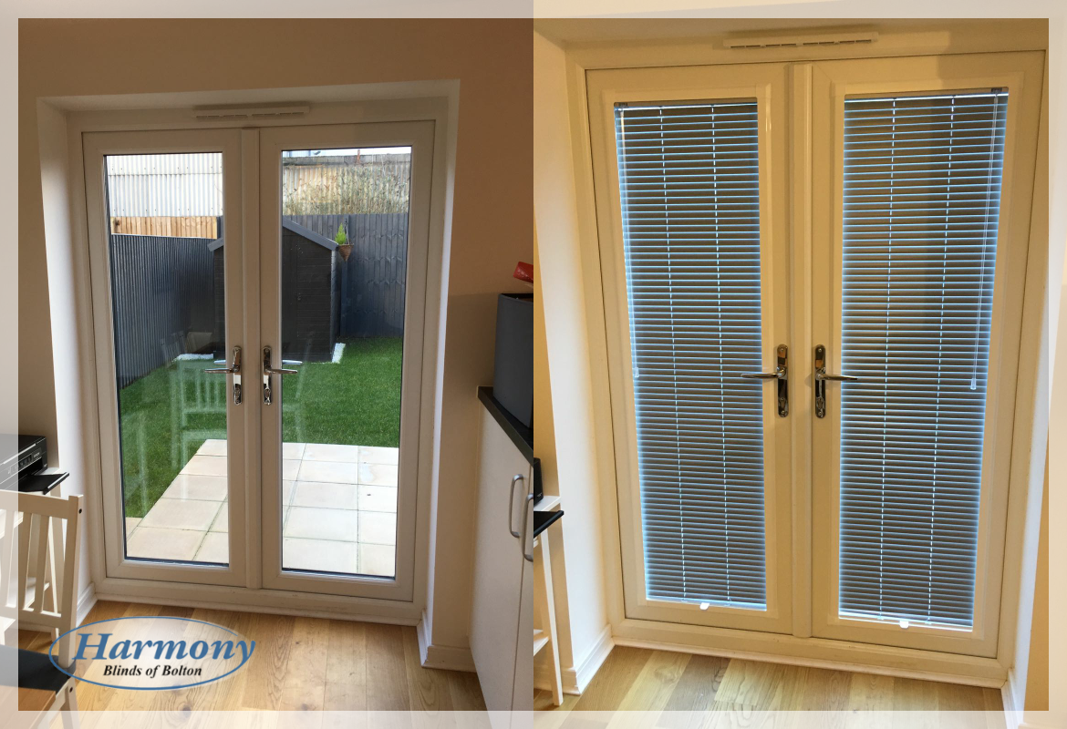 Before After Perfect Fit Venetian Blinds In A Patio Door