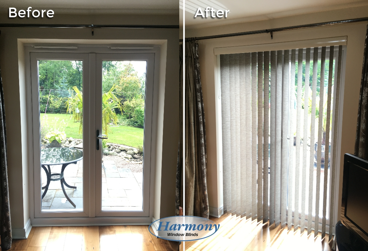 Before after stylish vertical blind on patio doors harmony before after stylish vertical blind on patio doors planetlyrics Gallery