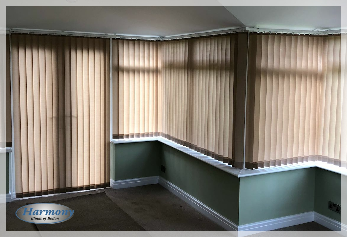 Vertical Blinds around a Conservatory