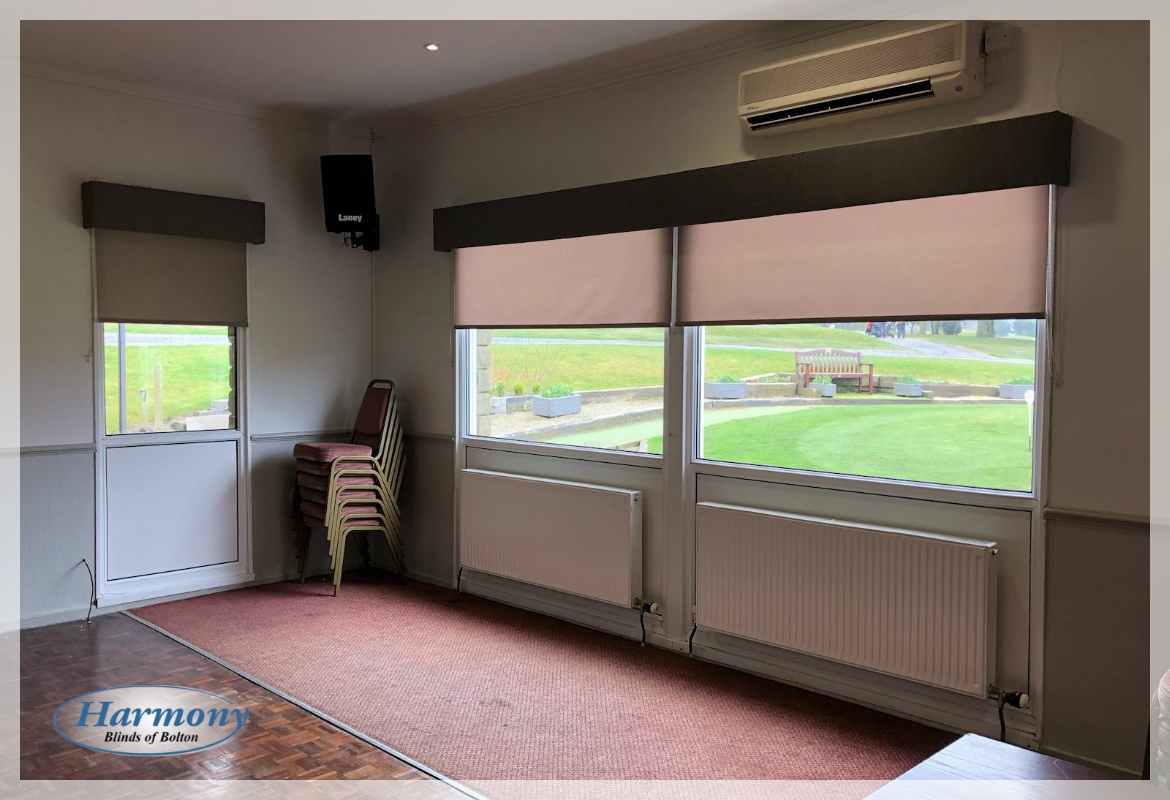 Commercial Installation - Roller Blinds for Walmersley Golf Club