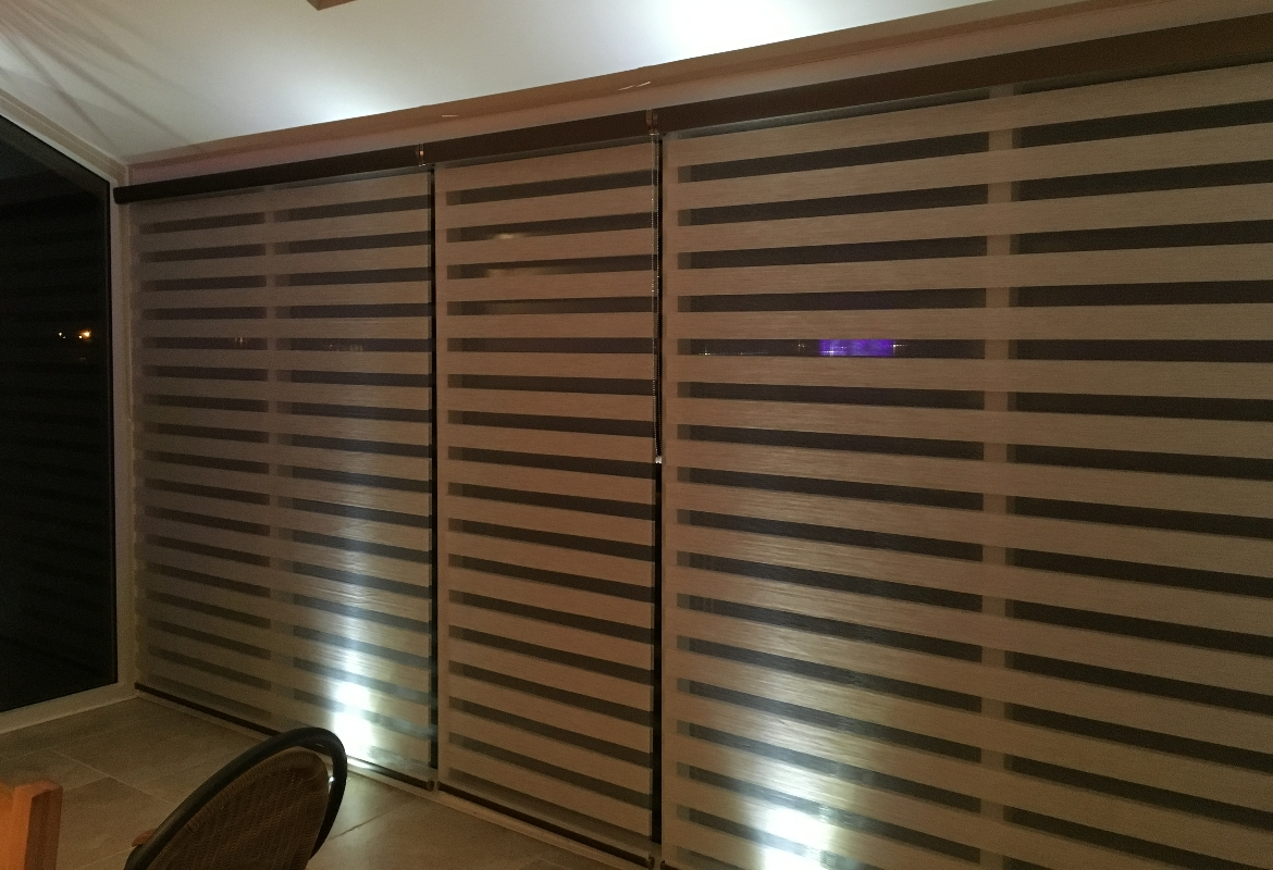 Brown Day amp Night Blinds In Conservatory Harmony