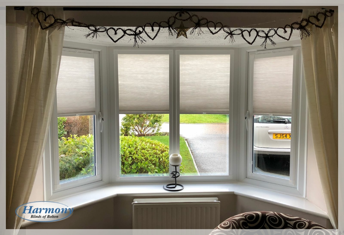 Dimout Perfect Fit Duette Blinds In A Bay Window Harmony