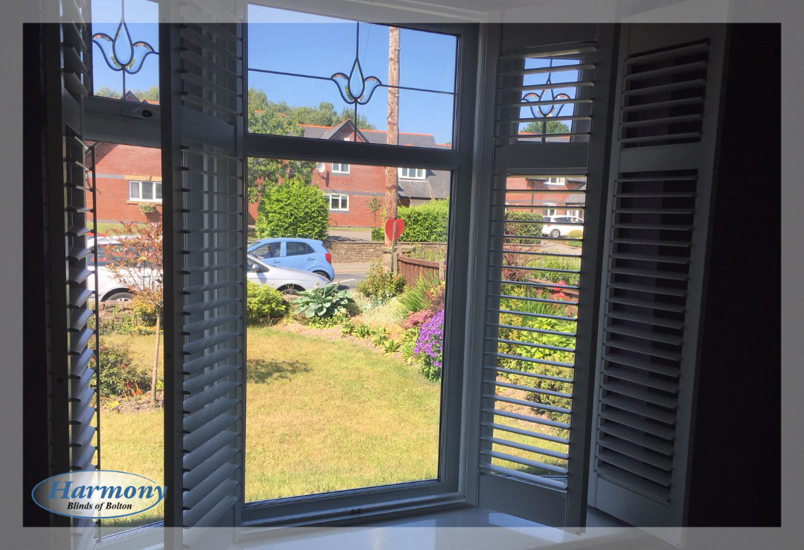Open shutters installed in Bolton by Harmony