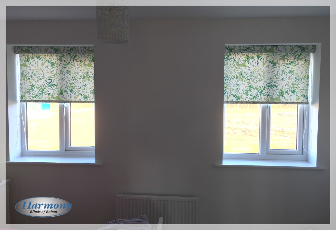Floral Green Senses Roller Blinds by Harmony