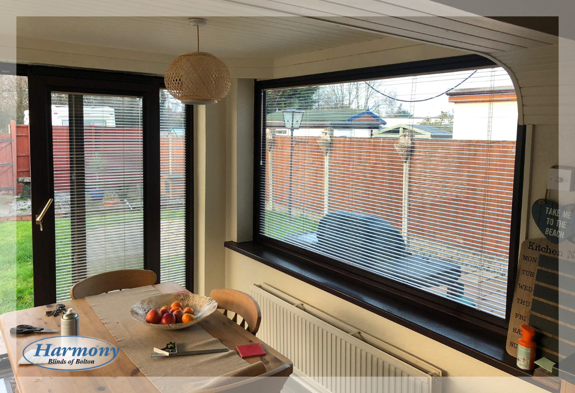 Perfect Fit Venetian Blinds in a Dining Area