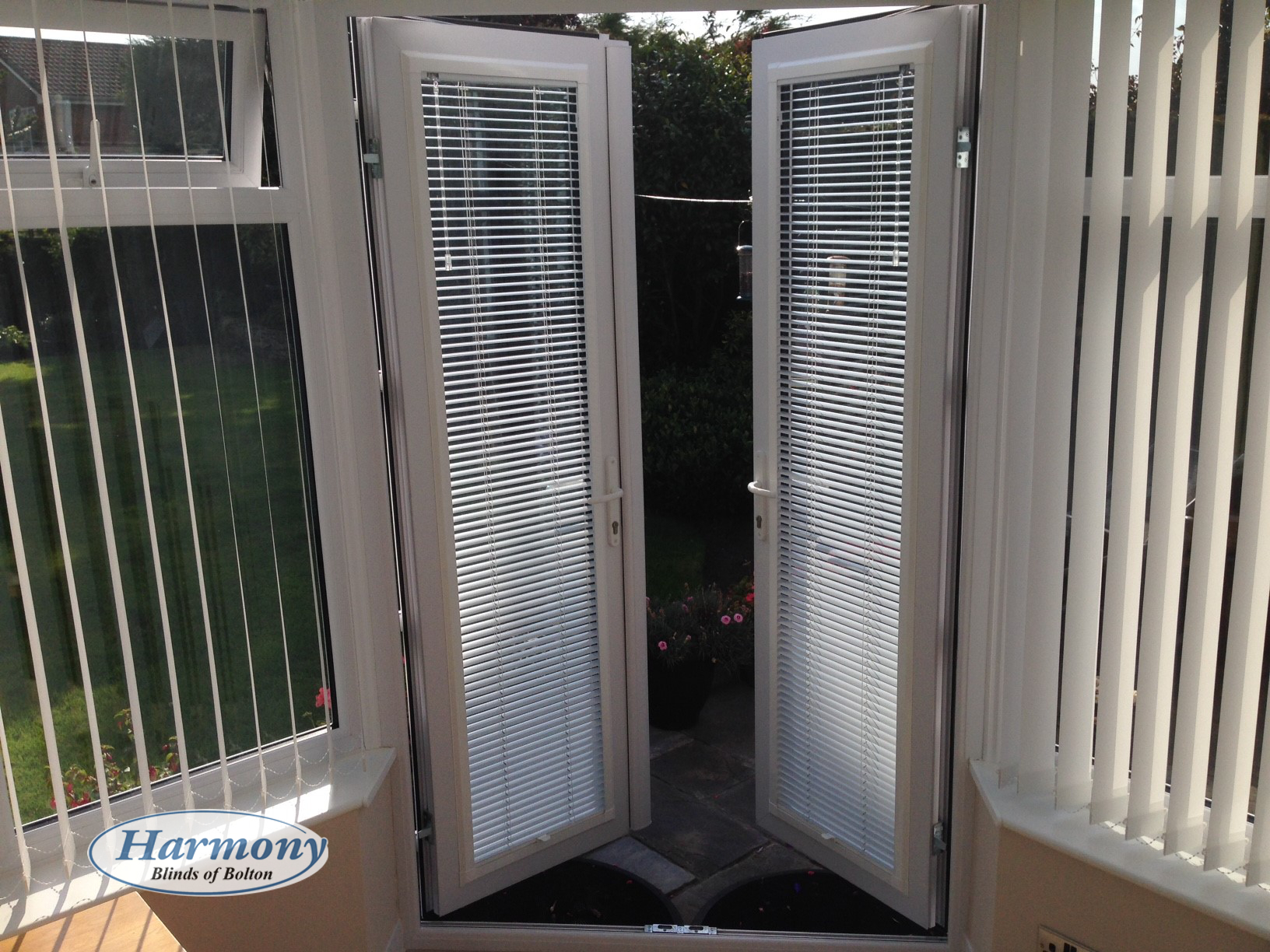 Perfect Fit Venetian Blinds On Conservatory Doors And Vertical