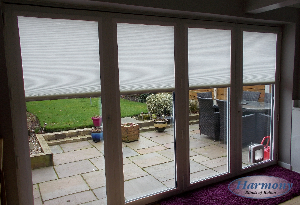 Perfect Fit Pleated Blinds On A Patio Door Harmony