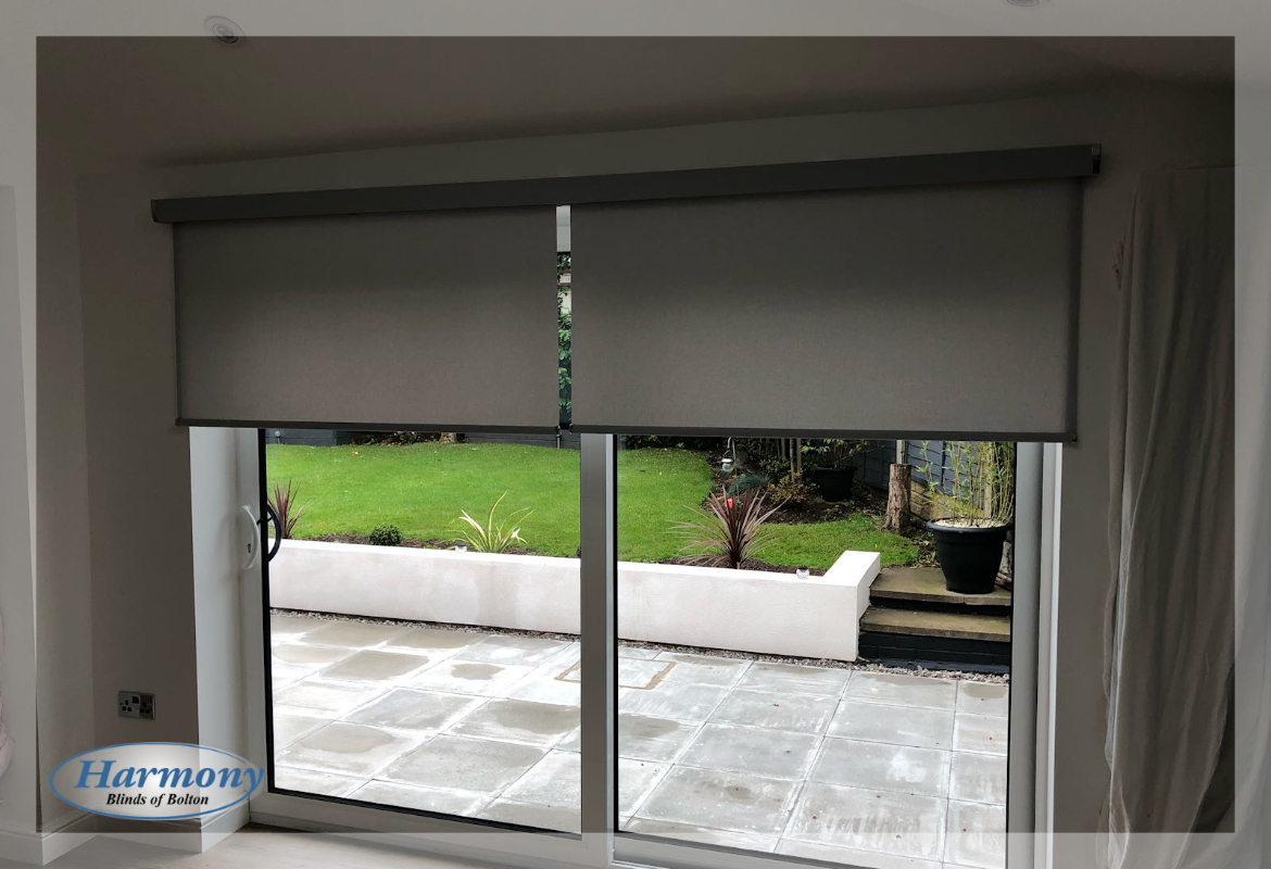 Remote Control Roller Blinds On Patio Doors Harmony Blinds