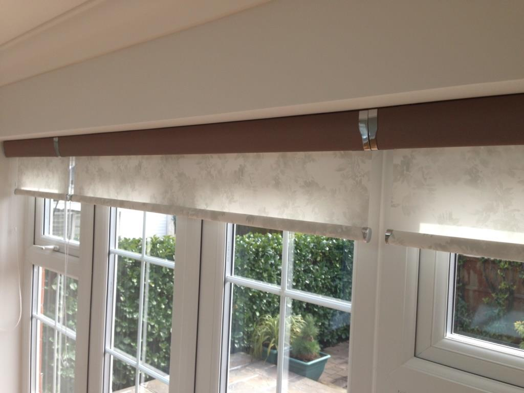 Floral Senses Roller Blinds With Taupe Cassette Harmony
