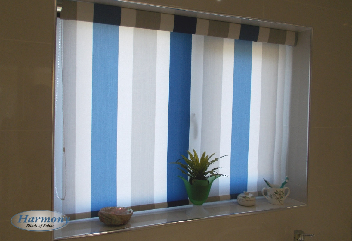 Stripy Roller Blind In A Matching Cassette Harmony