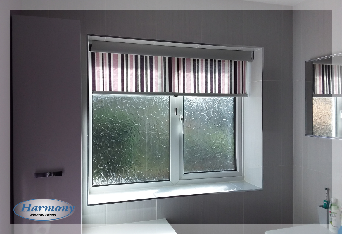 Striped Senses Roller Blind with Silver Finishes
