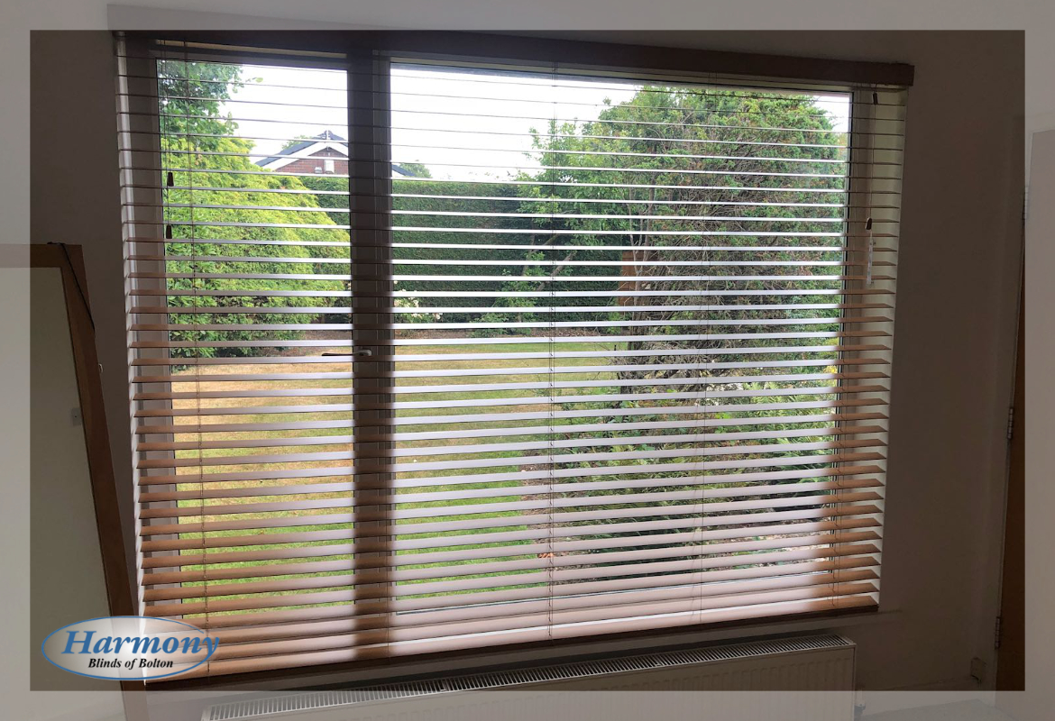 Traditional Chestnut Wooden Blinds