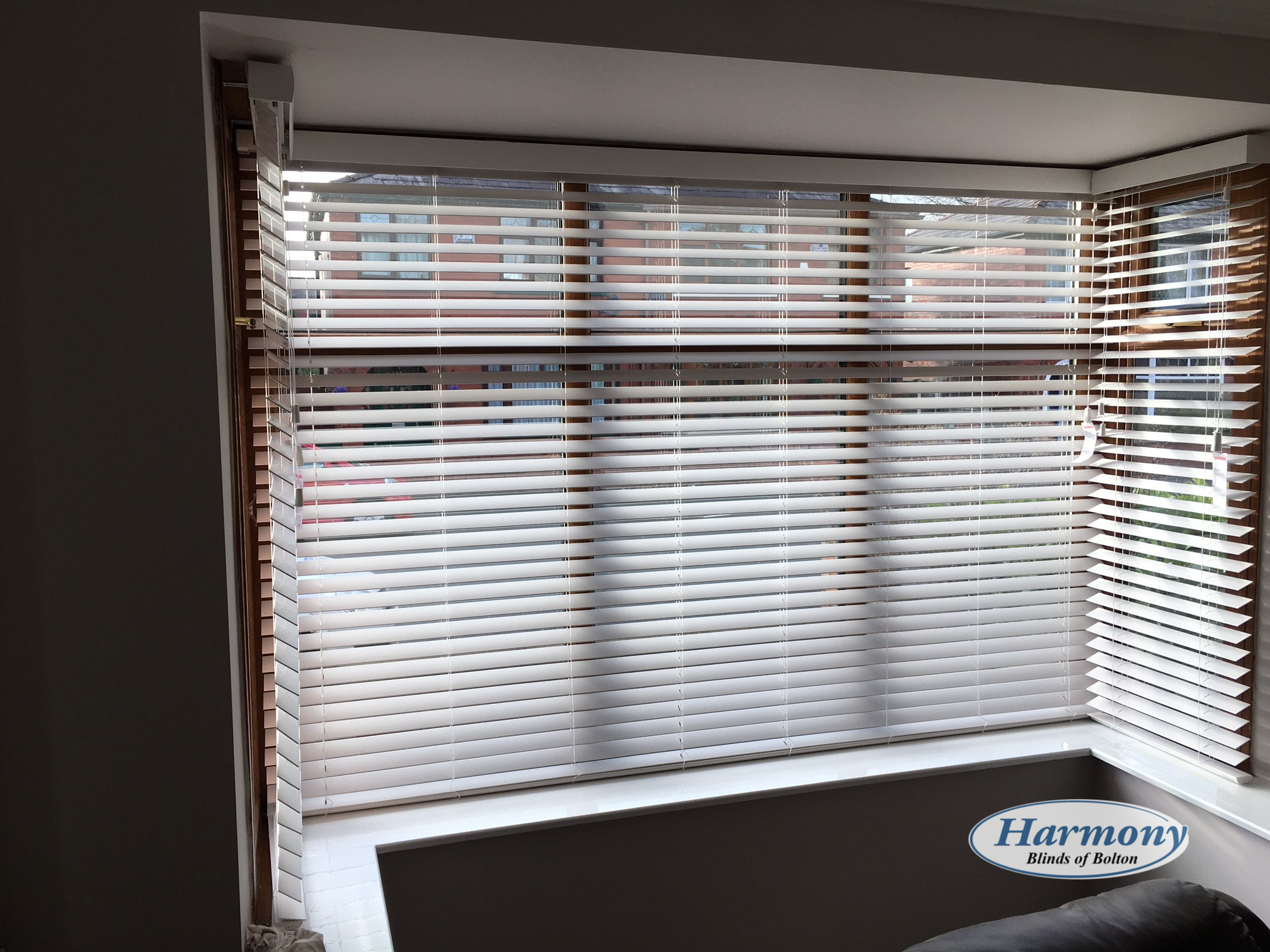 garden wood blinds fauxwood cordless white orders shipping on free faux overstock home arlo over blind product inch
