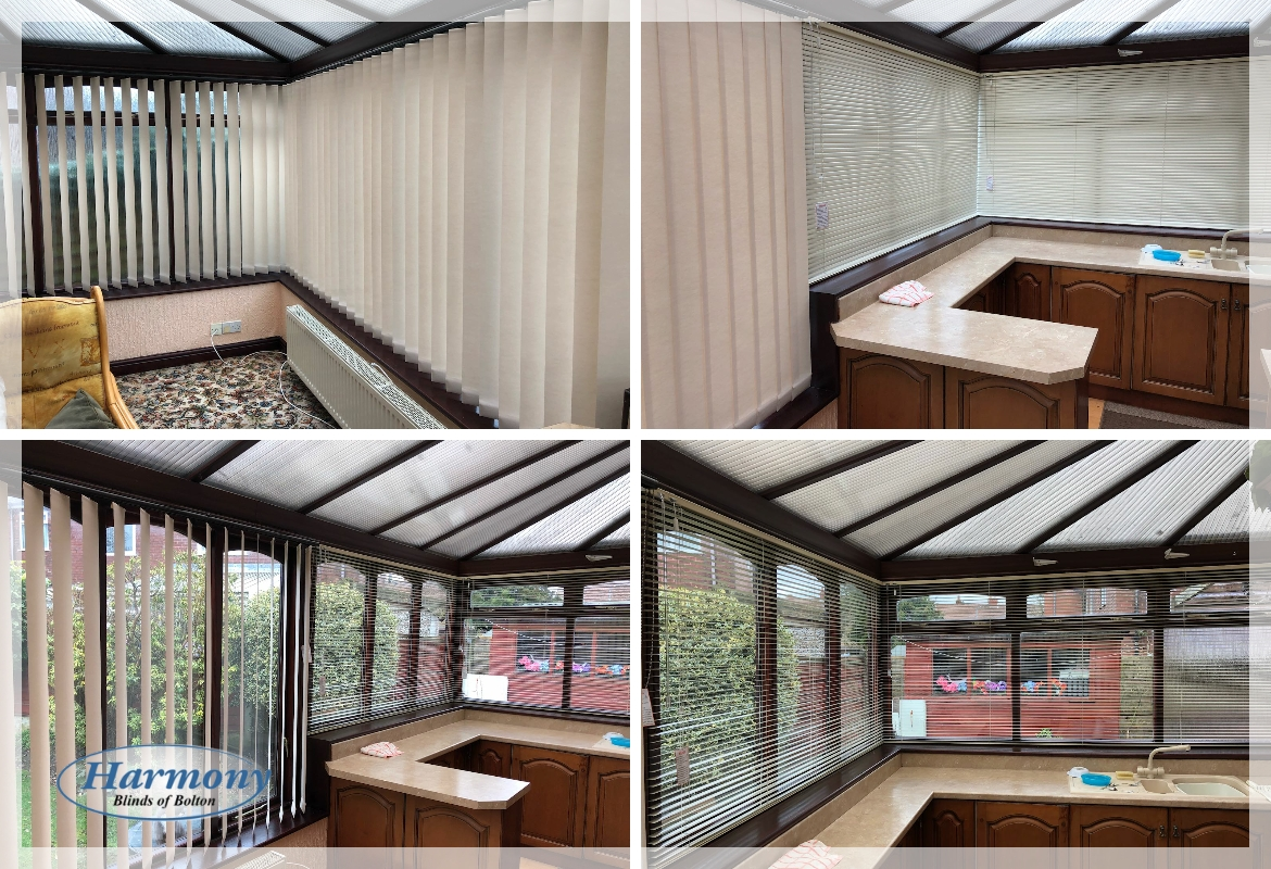 Vertical Blinds & Venetian Blinds in a Conservatory