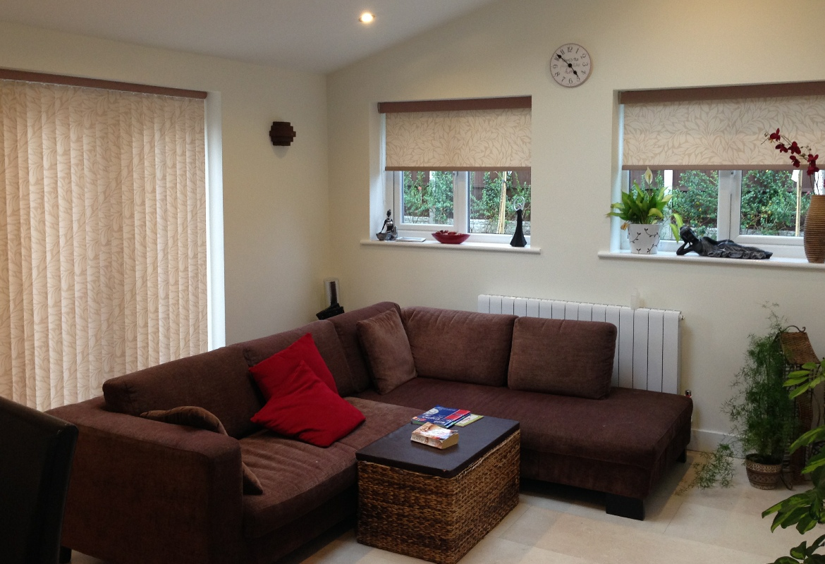Matching Vertical Blinds And Roller Blinds Harmony