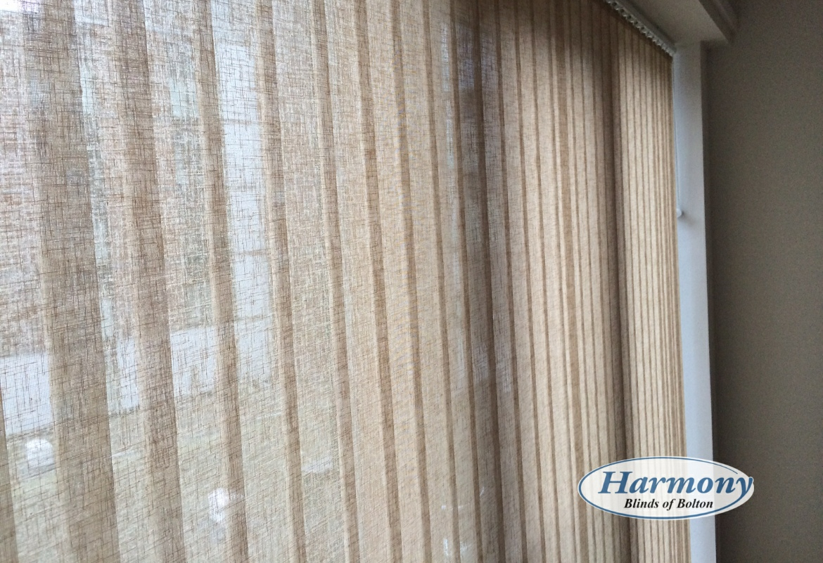 Hessian Coloured Voile Vertical Blinds Harmony Blinds