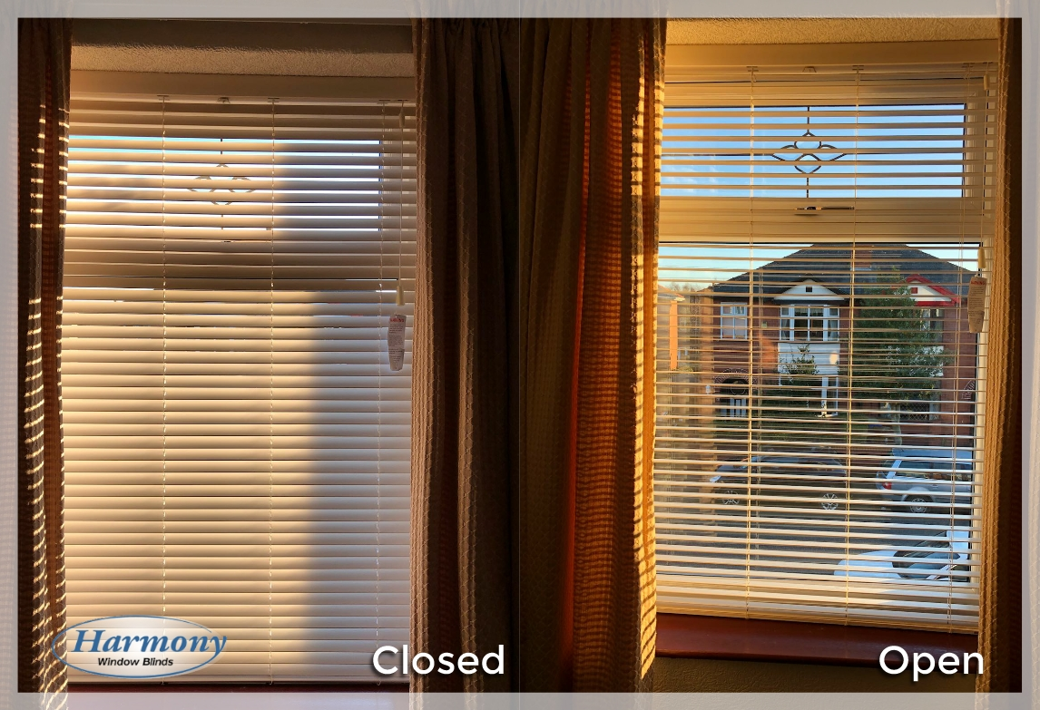 how to close wooden blinds