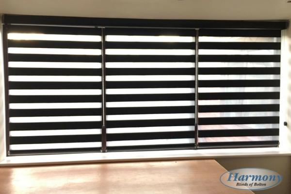 3 Day and Night Blinds in one cassette to cover a large window