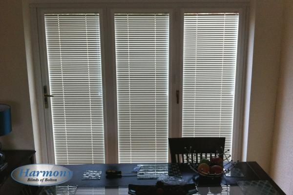 3 Panel Door covered with Perfect Fit Venetian Blinds