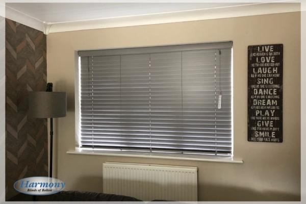 Ash Grey Wooden Blind by Harmony