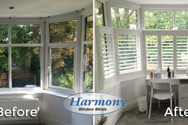 Before & After - Café Style Shutters