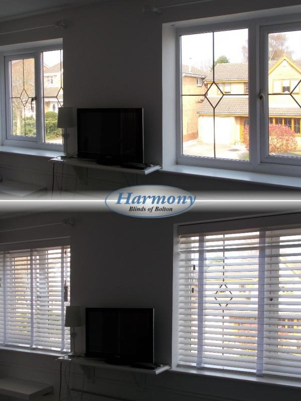 Before & After - Matching Wooden Blinds with Tapes