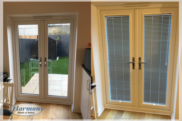 - Before & After - Perfect Fit Venetian Blinds in a Patio Door
