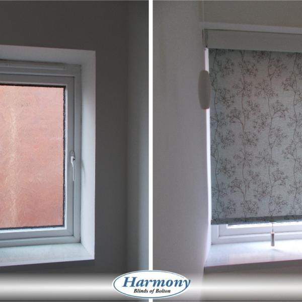 Before & After - Small Senses Roller Blind