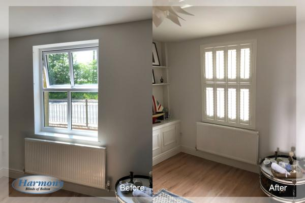 - Before & After - Tier on Tier Shutters
