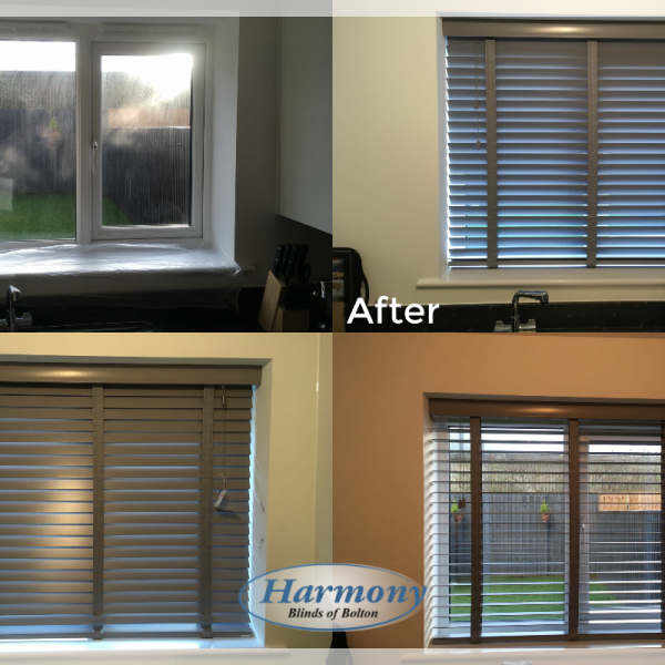 - Before & After - Wooden Blinds with Tapes