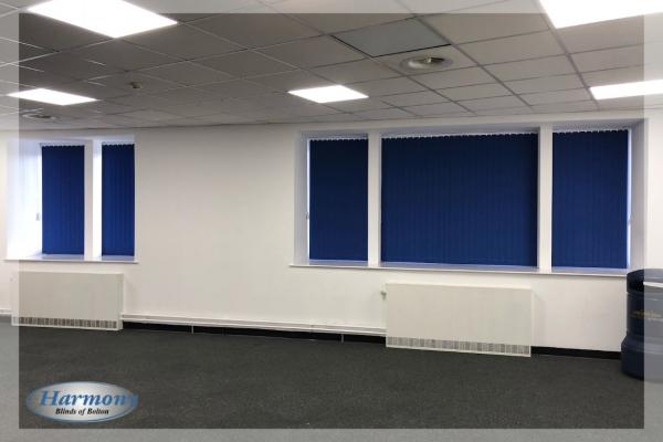 Commercial Blinds - Blue Vertical Blinds