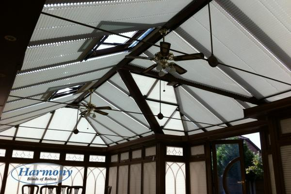 Conservatory Roof - Shaped Pleated Blinds