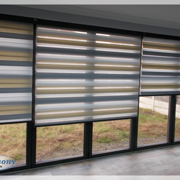 Day and Night Blinds across Bi-fold Doors