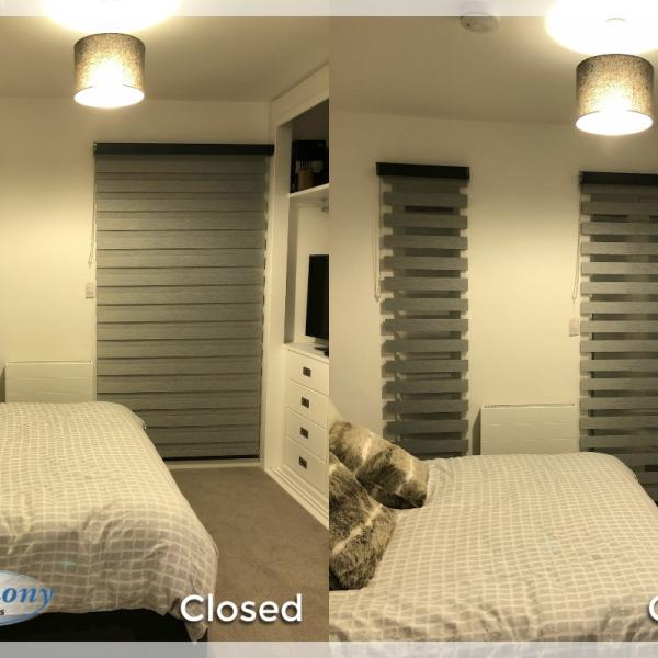 Day & Night Blinds in Bedroom in Manchester