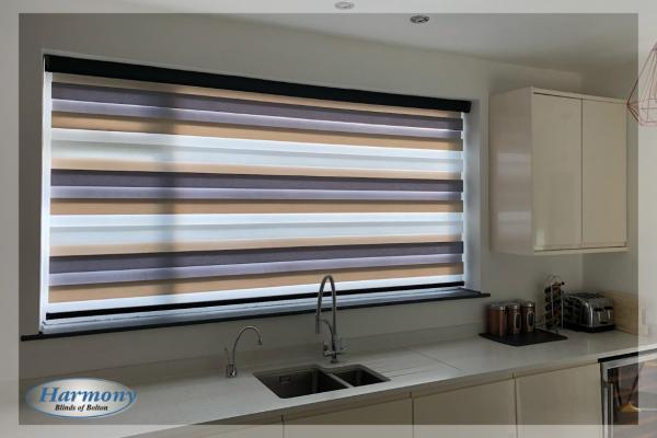 Day & Night Mirage Blind in a Modern Kitchen