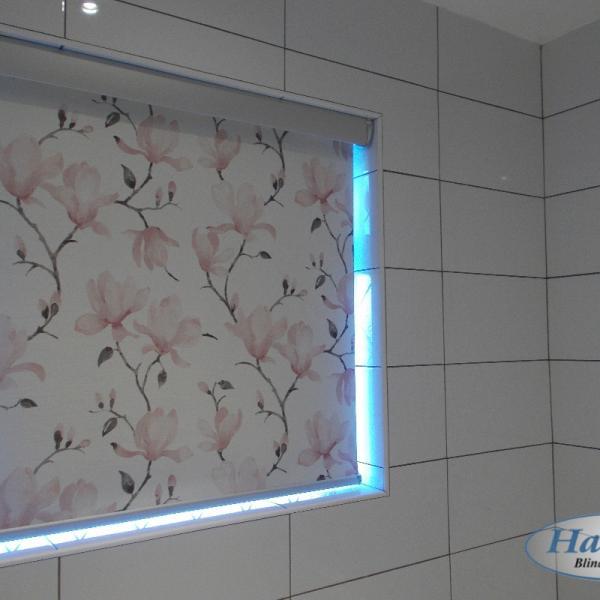 Floral Roller Blinds with a Senses Pelmet