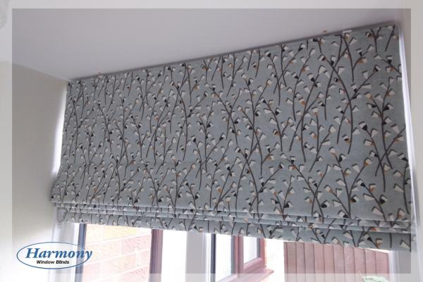Floral Roman Blind by Harmony