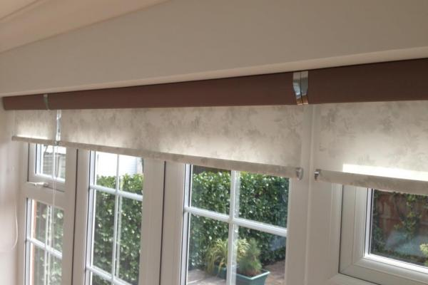 Floral Senses Roller Blinds with Taupe Cassette